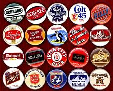 "Classic Beer 20 NEW 1"" buttons pins badge schlitz black label blatz hamms PBR"