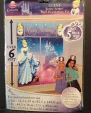 Disney Princess Cinderella Party Wall Decoration Banner Photo Backdrop 6' Castle