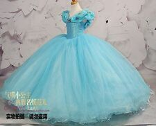Cinderella Girl Dress Princess Kids Pageant Party Dance Wedding Birthday Gown A9