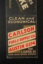 1940s Koppers Coke Carlson Fuel Supply 901 S. Central Ave. Oak Park IL Cook Co