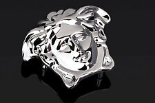 """Versace belt buckle Brass Silver medusa Mens belts small for 1.5"""" strap Italy"""
