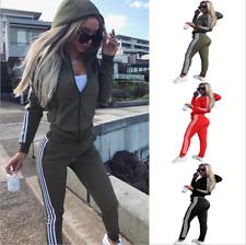 Details zu  Damen Trainingsanzug Hausanzug Hoodie Sweatshirt Hose Jogginganzug S