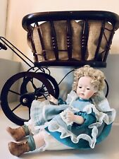 Vintage Victorian Doll Pram With Doll