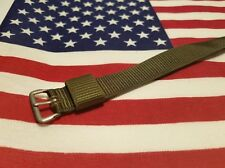 GENUINE U.S. MILITARY ISSUE NYLON VINTAGE GREEN WATCH BAND 1965