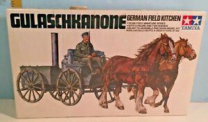 1:35 Tamiya German Field Kitchen w/Horses & Figures Box Sealed NOS