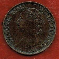 GREAT BRITAIN  FARTHING 1890   QUEEN VICTORIA .MINTAGE 2,133,070