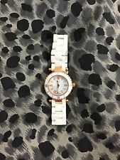 Guess Collection Swiss Watch Ceramic Case Stainless Steel Chic White Watch.