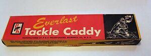 Vintage P&K Everlast Tackle Caddy New Original Box Fishing Collectible USA