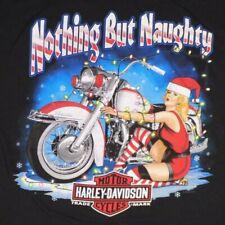 Harley Davidson Christmas Pin-Up Girl Long Sleeve 3XL Santa Nothing But Naughty