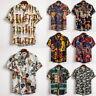 Men's Hawaiian Shirt Summer Floral Beach Short Sleeve Casual Loose Shirt Tops US
