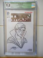 CGC 9.8 GEORGE PEREZ ORIGINAL ART/NIGHTWING BLANK COVER SKETCH/NEW TEEN TITANS Comic Art