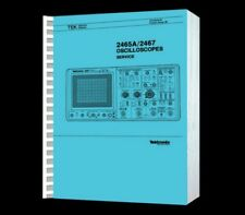 Tektronix 2465A 2467 Osciloscope Hi Resolution Paper Reprinted Service Manual+CD