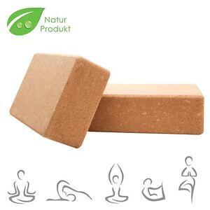 2er Set NaturKork Yogaklotz Hochwertig Höhe Dichte Blöcke Yoga Block Yogablock