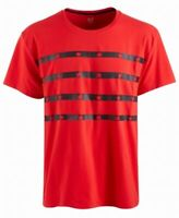 Ideology Mens T-Shirt Black Red Size 2XL Star Striped Crewneck Tee $30 029