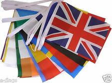 33FT WITH ALL THE FLAGS OF THE EU EURO EUROVISION EUROPEAN UNION FABRIC BUNTING