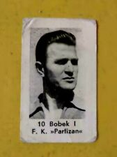 1953 STJEPAN BOBEK Partizan Belgrade Yugoslavia RARE Football Soccer Card