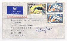 BH188 1971 Nigeria * Ebute Metta * GB enterrar Banca Cubierta aéreo registrado