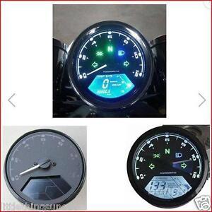 Motorcycle Classic Style Digital KPH or MPH Odometer Kawasaki Suzuki Honda