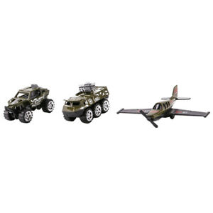 3pcs cross-country vehicle missile truck fighter aircraft military model toy
