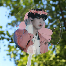 Portable KPOP EXO CHANYEOL PVC Transparent Hand Fan Summer Handmade Cute