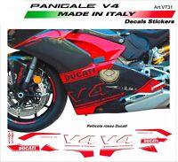 Kit adesivi personalizzati per pannelli laterali Ducati Panigale V4