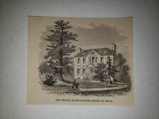 Pringle Mansion House Havre De Grace Maryland 1863 Hw Sketch Print Rare!