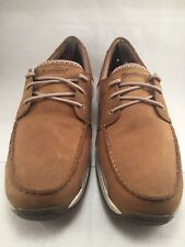 Dunham Men's Captain Boat Shoe In Tan Leather Casual Loafers Size 14D
