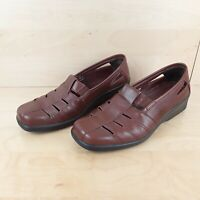 HOTTER AMY WOMENS LADIES BROWN LEATHER COMFORT CONCEPT SHOES FLATS SIZE UK 5.5