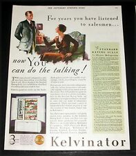 1931 OLD MAGAZINE PRINT AD, KELVINATOR REFRIGERATOR, SIDE BY SIDE, AUTOMATIC!