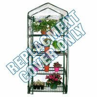 NEW 4 TIER GREENHOUSE REINFORCED REPLACEMENT PVC COVER GARDEN PLANTS GROWHOUSE