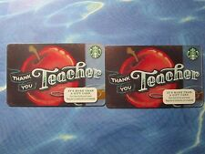 New for Sales - Starbucks Card - Thank you Teacher  ( total 2 cards )