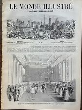 LE MONDE ILLUSTRE 1857 N 18 L' ARCHIDUC MAXIMILIEN ET DE LA PRINCESSE CHARLOTTE