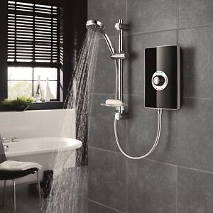 Triton Aspirante Electric Shower 8.5kW Black Gloss 5 Spray Modern ASP08GSBLK