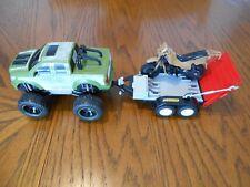 NKOK Ford F-150 Pickup & Playmobile Motorcycle Trailer w/BlueBox Motorcycle Used