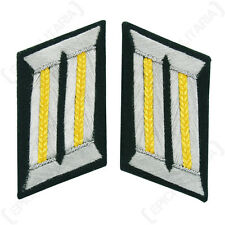 WW2 German Army Officer COLLAR TABS - RECON UNITS Piping / Gold Yellow Piped