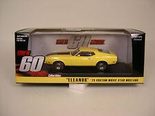 ORIGINAL ELEANOR YELLOW 1973 MUSTANG GREENLIGHT 1:43 SCALE DIECAST METAL CAR