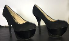 Women's Size 9 Anna Michelle Black Platforms Heels