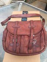 BRUNELLO CUCINELLI Brown Buffalo Full Grain Leather Messenger Bag $4200 MSRP