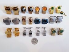 AWESOME Vintage Mod Wrap Around Cufflinks LOT Swank Anson Sterling