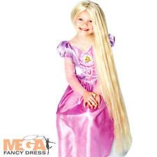 Rapunzel Glow in Dark Girls Fancy Dress Costume Wig NEW
