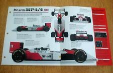 1988 McLAREN MP4/4 GRAND PRIX RACER UNIQUE IMP BROCHURE