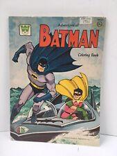 VINTAGE RARE 1966 BATMAN COLORING BOOK COMIC WHITMAN UNCOLORED