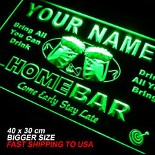 p-tm Name Personalized Custom Home Bar Beer Neon Light Sign BIGGER SIZE
