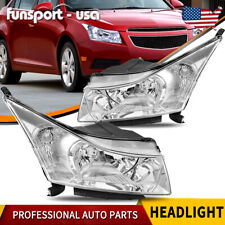 For 2011 2015 Chevy Cruze Headlights Replacement Leftright Chrome Housing Set Fits 2012 Chevrolet Cruze Lt