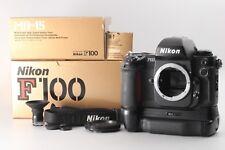 {MINT IN BOX} Nikon F100 SLR Film Camera  w/MB-15 DG-2 DK-7 Strap From JAPAN