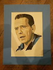"Watercolor Art Portrait Dick Purcell 18""X14"" Original"