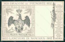 Militari Reggimentali V Reggimento Lancieri di Novara cartolina XF2099