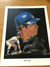 Steve Sax Los Angeles Dodgers Union 76 Print from Artist Nicholas Volpe 1982