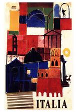 Vintage Italian Travel Poster, Italia, Rome, Sicily, Italy