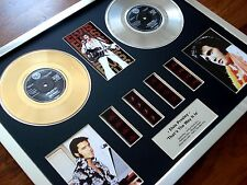 "ELVIS PRESLEY 7"" GOLD PLATINUM DISC RECORD AWARD & FILM CELL DISPLAY MONTAGE"